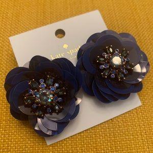 NWT Blue Flower Kate Spade New York Earrings